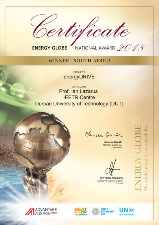 South Africa National Energy Globe2 018